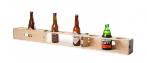 Rackpack bierbox Beer Gear 103 x 9,5 x 9,5 cm hout naturel