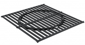 Rösle barbecue-Grill Pro Grill 45 x 39,5 cm Gusseisen schwarz