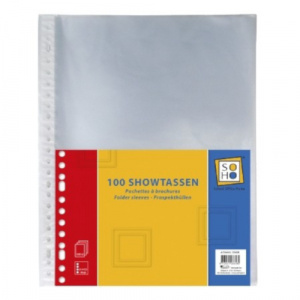 Soho showtassen 23-rings A4 transparant 100 stuks