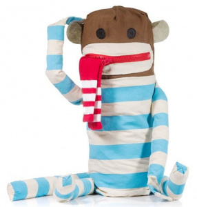 Suck UK laundry bag monkey junior 89 cm cotton/polyester blue/white