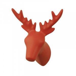 The Zoo porte-manteau Dear Deer 8,5 x 7 x 9 cm polystone rouge