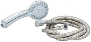 TOM shower head & shower hose 8 cm chrome