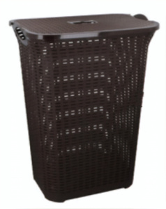 TOM laundry basket 75 liters dark brown
