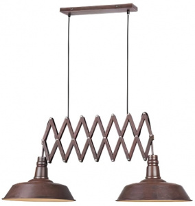 Trio hanglamp Detroit 187 x 150 cm staal 4 kg roestbruin