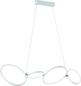 Trio hanglamp Rondo 110 cm led staal/acryl 1 kg matwit