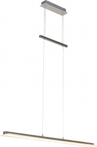 Reality hanglamp Smash 150 cm led staal/glas wit/zilver