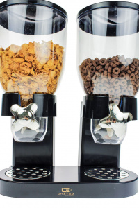 United Entertainment cornflakes dispenser 33 x 20 x 42 cm zwart