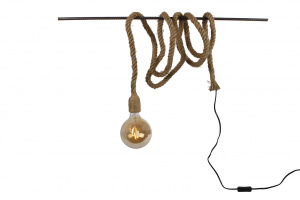Van Manen pendant lamp fitting on rope 4,5x4,5x400cm natural