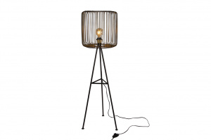 Gifts Amsterdam staande lamp rond Shade 40x40x111cm staal goud/zwart