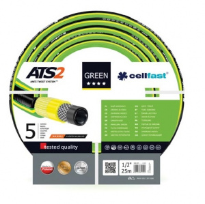 Cellfast tuinslang ATS2 1/2 inch 25 meter polyester groen