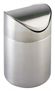 Wenko waste bin Otranto 16 x 23.5 cm stainless steel chrome