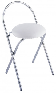Wenko bathroom stool Salerno 38 x 63 cm steel white/chrome