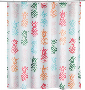 Wenko shower curtain Pineapple 180 x 200 cm polyester white