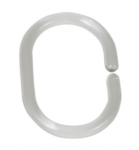 Wenko shower curtain rings 4,5 x 3 cm transparent 12 pieces