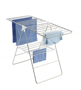 Wenko drying rack Flex 15 m stainless steel silver-S