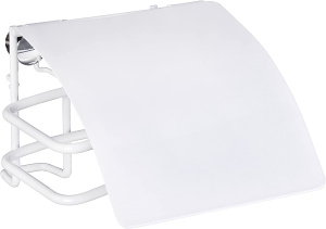 Wenko toiletrolhouder Classic Plus 14 x 9 cm staal wit