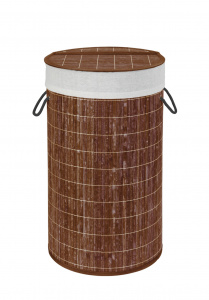 Wenko laundry basket 55 litres 35 x 60 cm bamboo brown