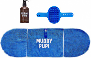 Wild & Woofy verzorgset Muddy Pup! polyester/rubber blauw 3-delig