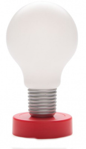 XD Collection druklamp 16,5 x 9,1 cm ABS rood/wit