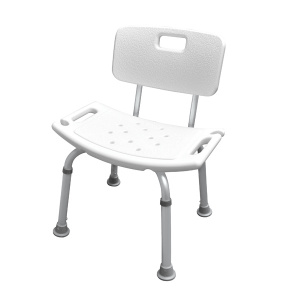 Zens adjustable shower seat 62 x 36 cm aluminium white/grey