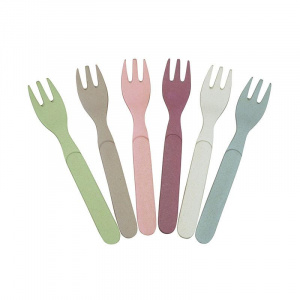 Zuperzozial forks Dawn 13,5 cm bamboo 6 pieces