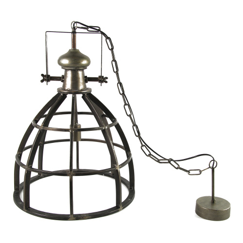 Countryfield hanglamp Barbera 40 x 159 cm staal donkergrijs