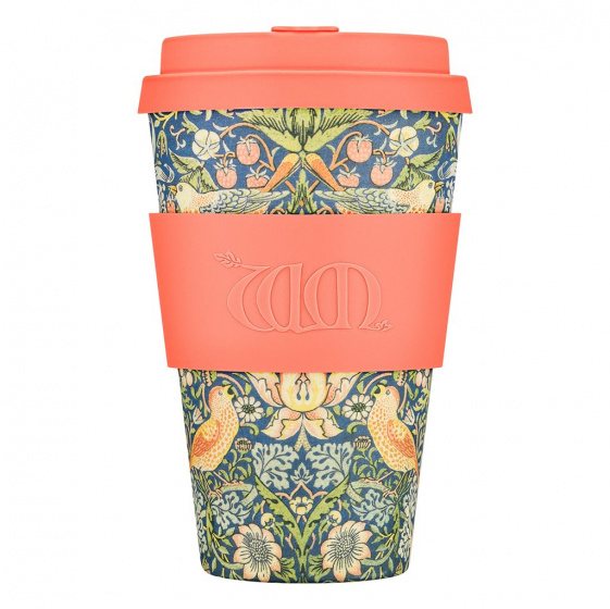 Ecoffee Cup thief bamboe koffiebeker 400 ml multicolor