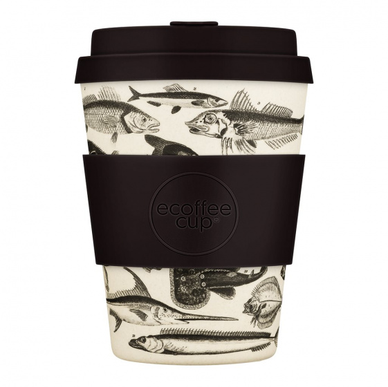 Ecoffee Cup toolondo fishman bamboe koffiebeker 350 ml multicolor