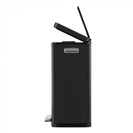 EKO Recycle E-Cube Papelera con Pedal Metal 32/x 36,6/x 44,5/cm Metal Negro 32 x 36.6 x 44.5 cm