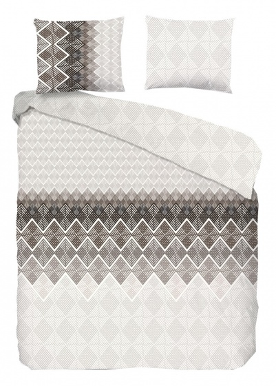 Good Morning dekbedovertrek Abigale 240 x 220 cm taupe