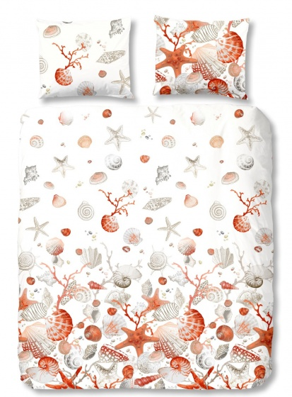 Good Morning dekbedovertrek Shells 240 x 220 cm wit
