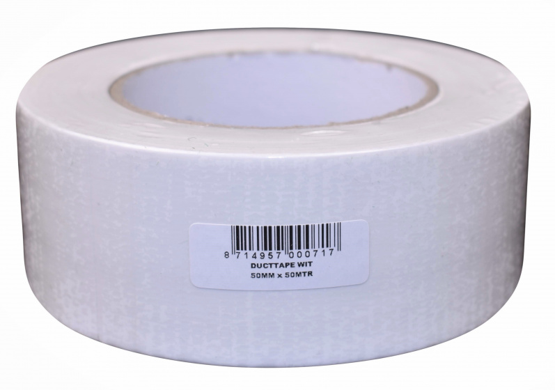 Verlofix duct tape 50 mm x 50 m PVC wit