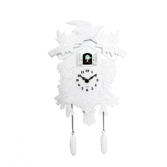 Walplus Horloge Murale Coucou Avec Pendule 25 Cm Pvc Blanc Internet Home Garden