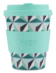 Ecoffee Cup koffiebeker Funnalloyd 350 ml bamboe turquoise