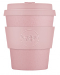 Ecoffee Cup koffiebeker Local Fluff 250 ml bamboe zalmroze