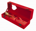 United Entertainment Woondecoratie gouden roos 28,5 x 7,5 cm goud/rood