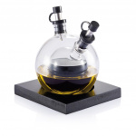 XD Xclusive olie- en azijnfles Orbit 100 ml glas zwart